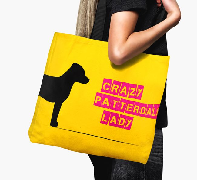 Crazy Patterdale Lady Canvas Bag