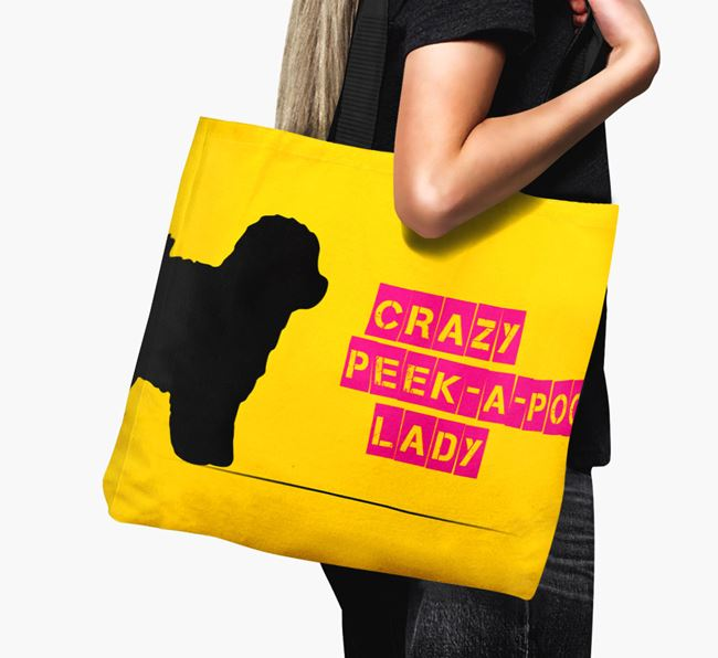 Crazy Peek-a-poo Lady Canvas Bag