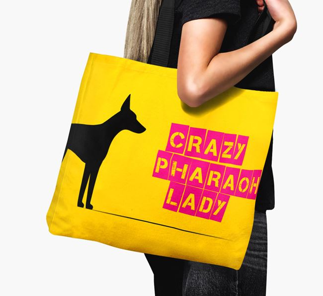 Crazy Pharaoh Lady Canvas Bag