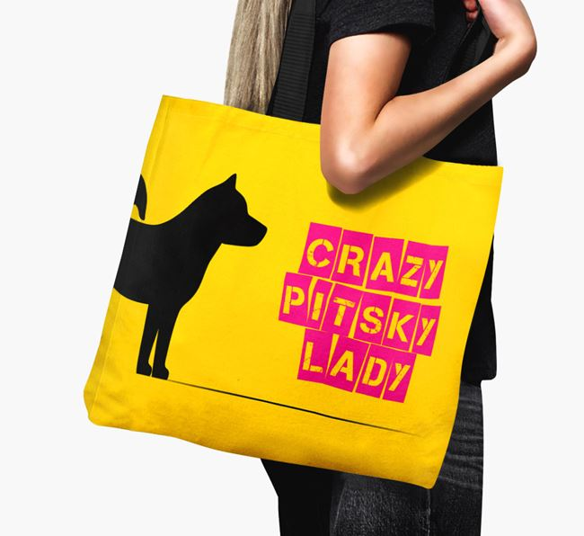 Crazy Pitsky Lady Canvas Bag