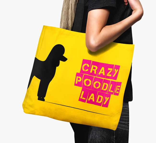Crazy Poodle Lady Canvas Bag