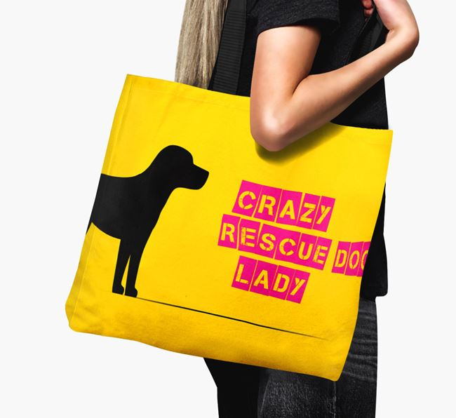 Crazy Rescue Dog Lady Canvas Bag