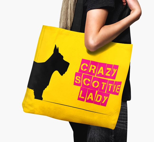 Crazy Scottie Lady Canvas Bag