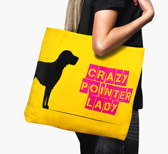 Crazy Pointer Lady Canvas Bag