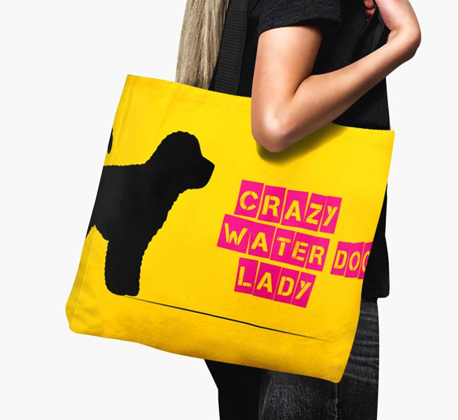 Crazy Water Dog Lady Canvas Bag