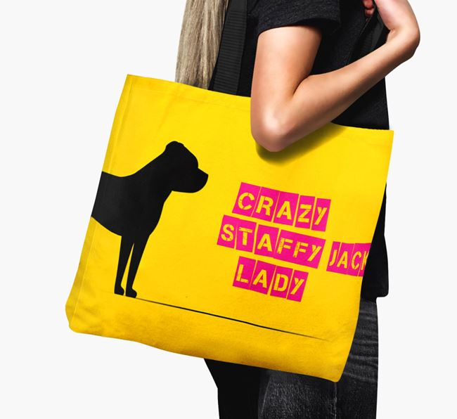 Crazy Staffy Jack Lady Canvas Bag