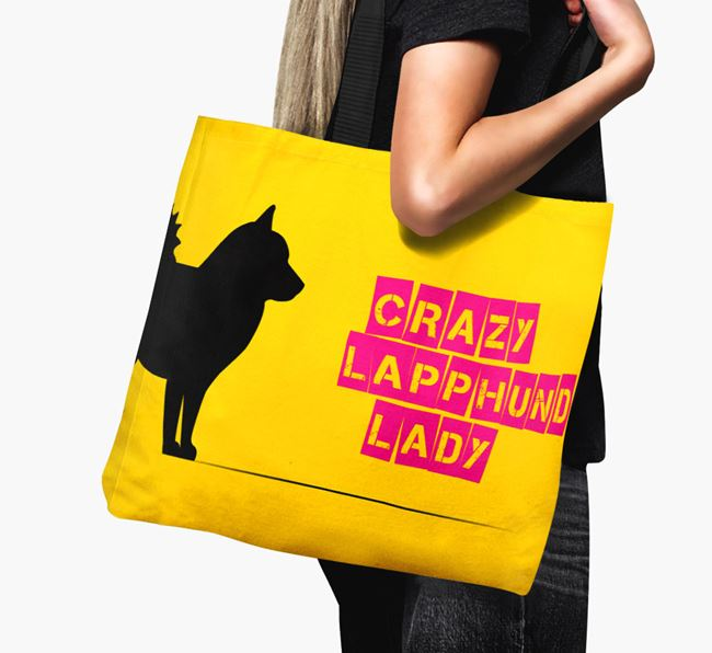 Crazy Lapphund Lady Canvas Bag