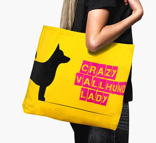 Crazy Vallhund Lady Canvas Bag