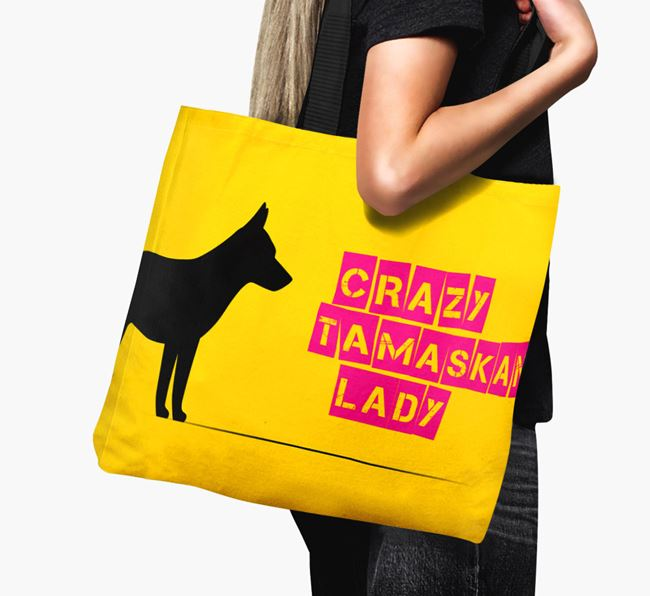 Crazy Tamaskan Lady Canvas Bag