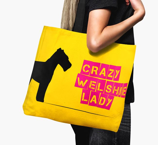 Crazy Welshie Lady Canvas Bag