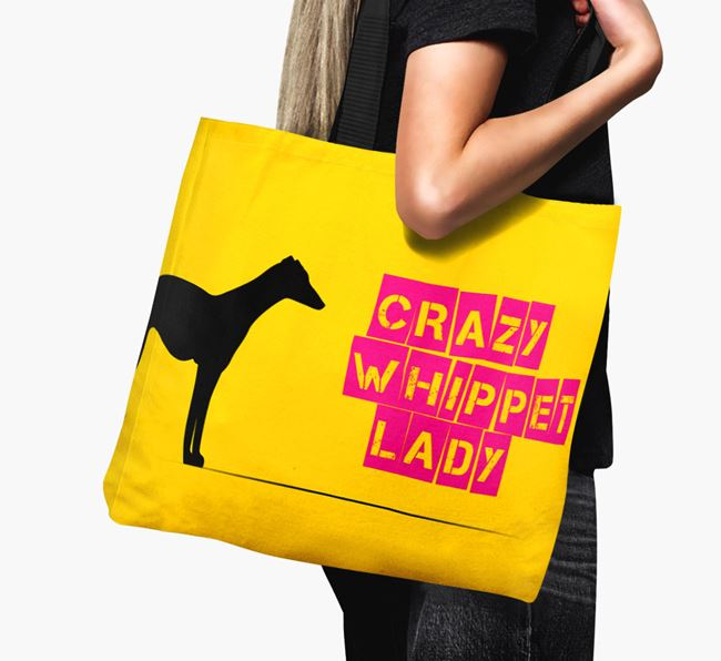 Crazy Whippet Lady Canvas Bag