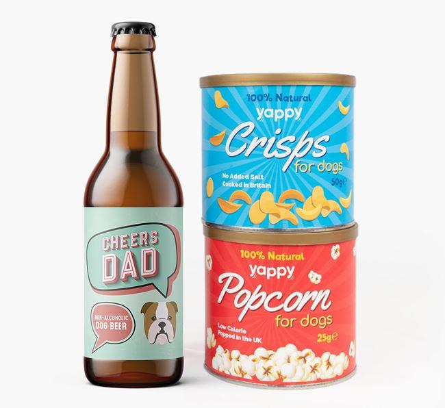 'Cheers Dad' Beer Bundle with Crisps & Popcorn