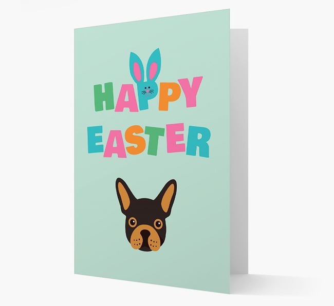 'Happy Easter' Card with your French Bulldog Icon