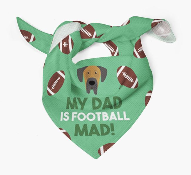 'My Dad Is Football Mad' Bandana with Dog Icon