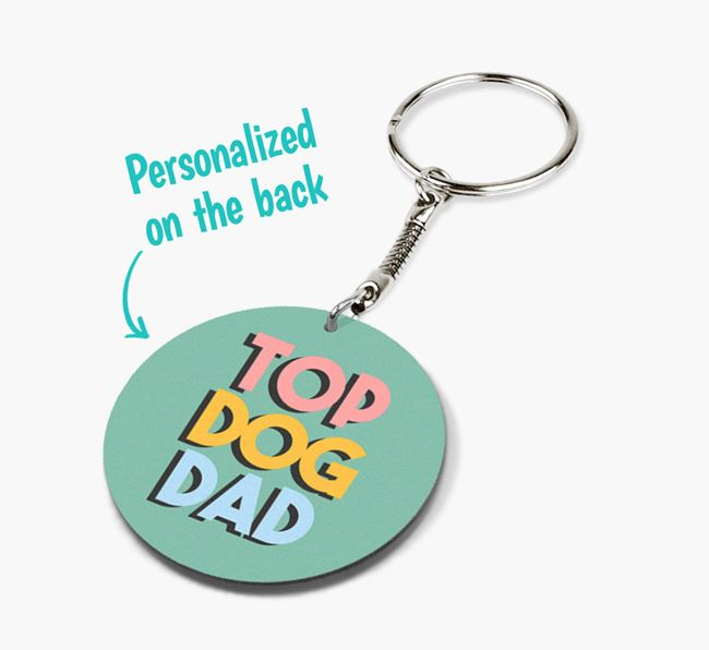Double-sided 'Top Dog Dad' Keyring