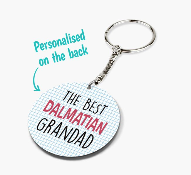 Double-sided 'Best 'Dalmatian Grandad' Keyring