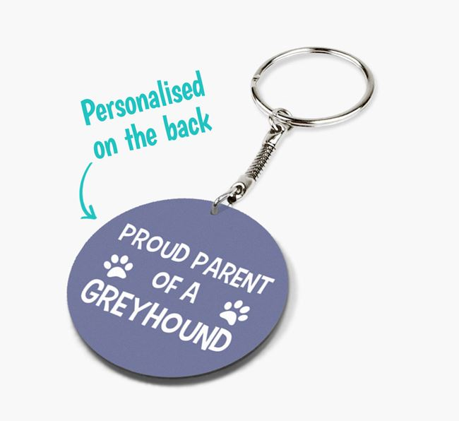 Double-sided 'Proud Parent' Keyring