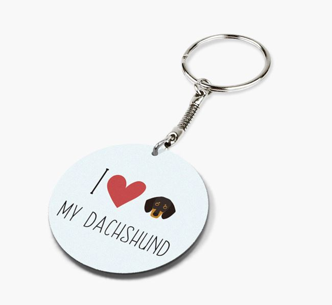 Double-sided 'I heart my Dog' Keyring