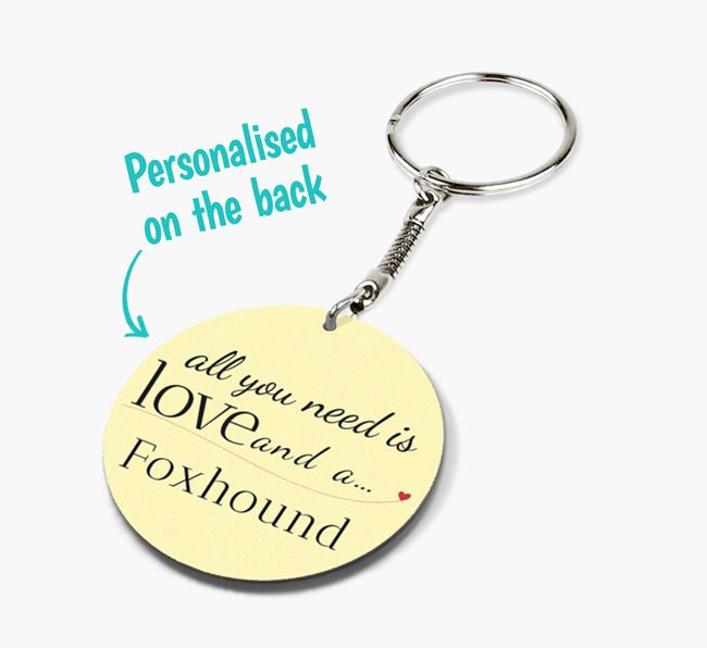 Double-sided 'All you need is' Keyring