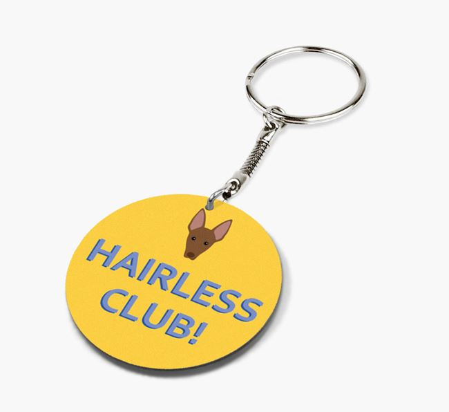 Double-sided 'Hairless Club!' Keyring