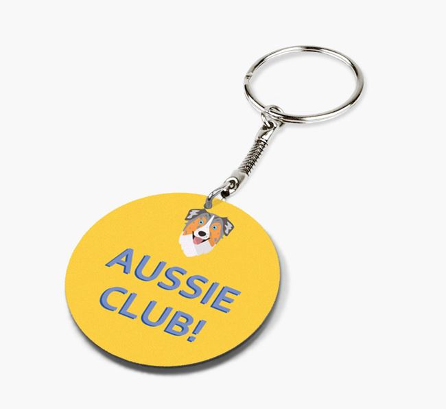 Double-sided 'Aussie Club!' Keyring