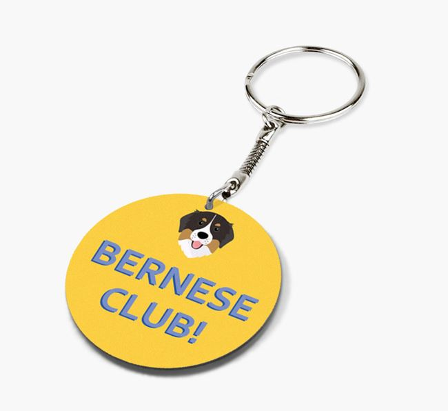 Double-sided 'Bernese Club!' Keyring