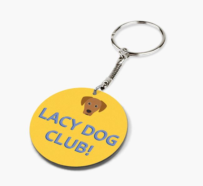 Double-sided 'Lacy Dog Club!' Keyring