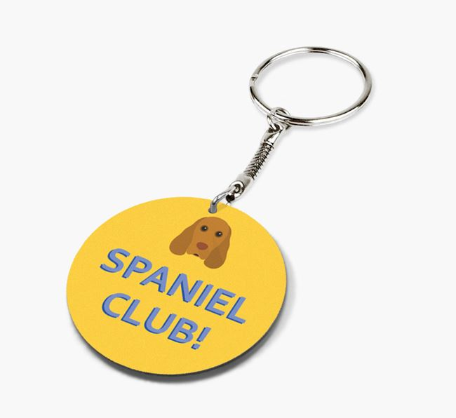 Double-sided 'Spaniel Club!' Keyring