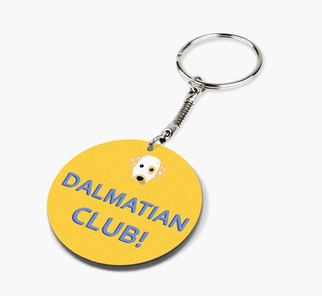 Double-sided 'Dalmatian Club!' Keyring