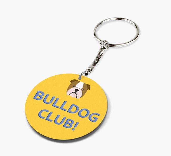 Double-sided 'Dog Club!' Keyring
