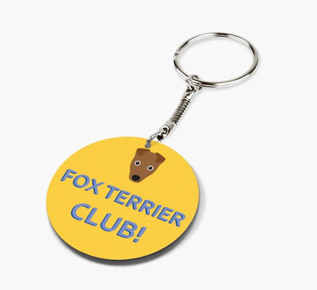 Double-sided 'Fox Terrier Club!' Keyring