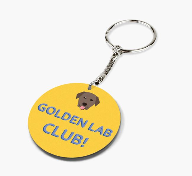 Double-sided 'Golden Lab Club!' Keyring