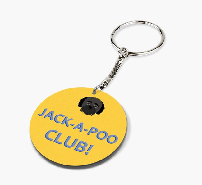 Double-sided 'Jack-a-Poo Club!' Keyring