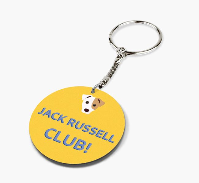Double-sided 'Jack Russell Club!' Keyring