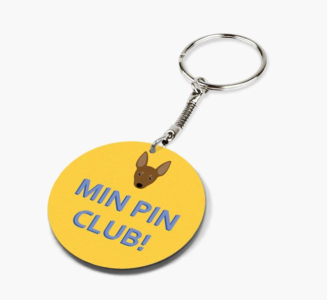 Double-sided 'Min Pin Club!' Keyring
