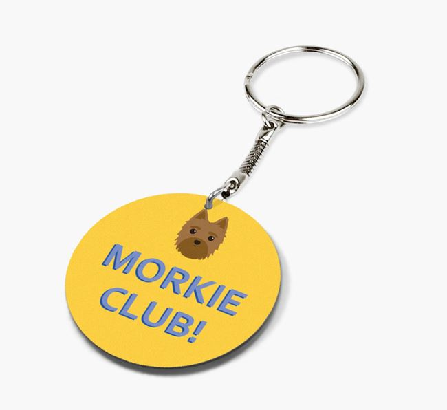 Double-sided 'Morkie Club!' Keyring