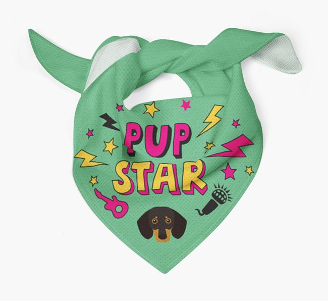 'Pup Star' Bandana with Dog Icon