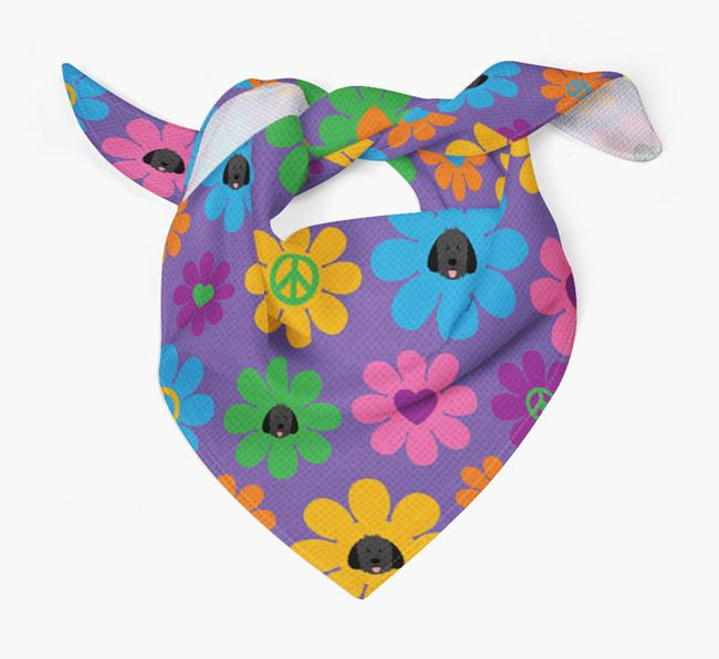 'Love and Peace' Bandana with Dog Icon