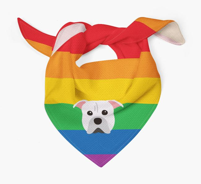 Colorful Rainbow Bandana with American Pit Bull Terrier Icon