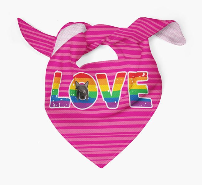 'Love' Bandana with Hairless Chinese Crested Icon