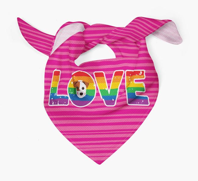 'Love' Bandana with Jack Russell Terrier Icon