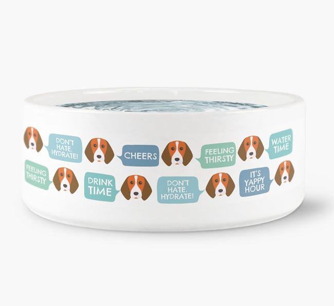 Speech Bubble Dog Water Bowl for your Beagle