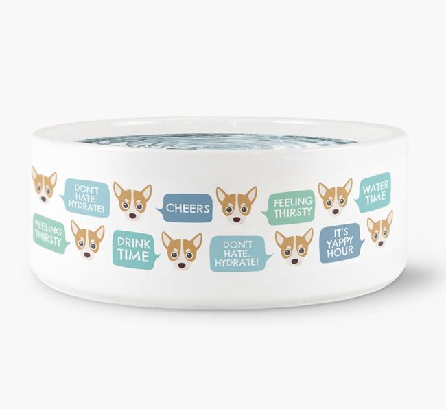 Speech Bubble Dog Water Bowl for your Chihuahua