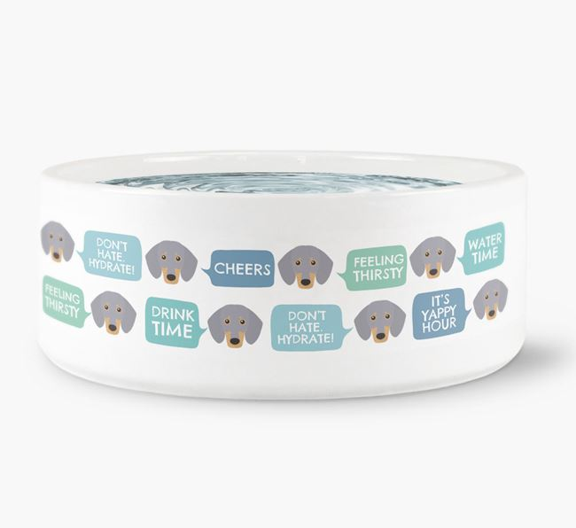 Speech Bubble Dog Water Bowl for your Dachshund