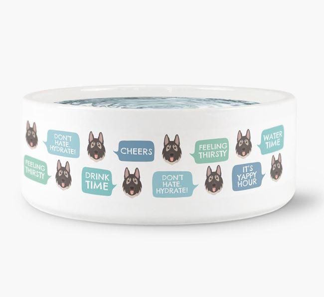 Speech Bubble Dog Water Bowl for your German Shepherd