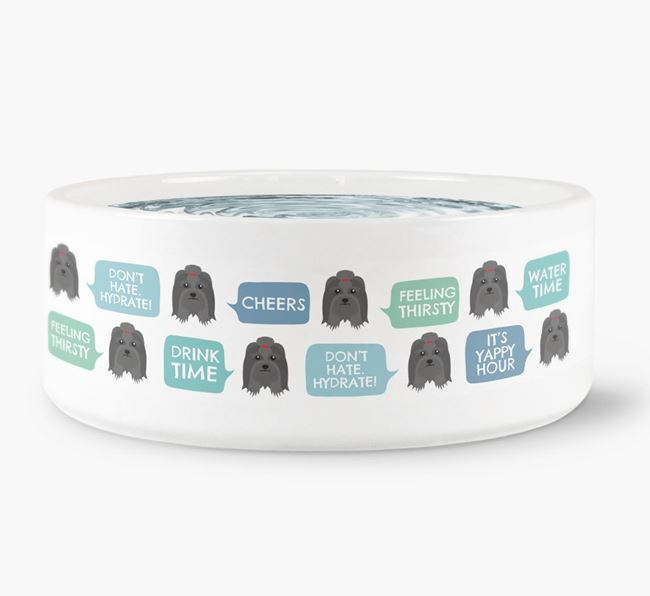 Speech Bubble Dog Water Bowl for your Lhasa Apso