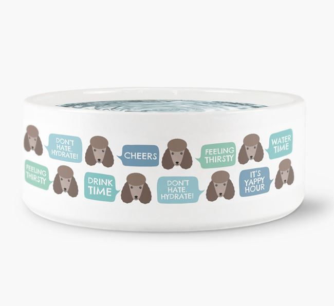 Speech Bubble Dog Water Bowl for your Poodle