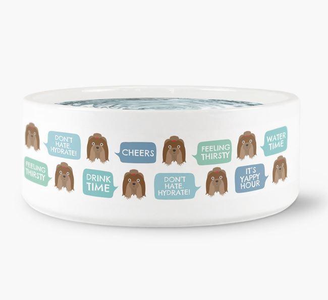 Speech Bubble Dog Water Bowl for your Shih Tzu