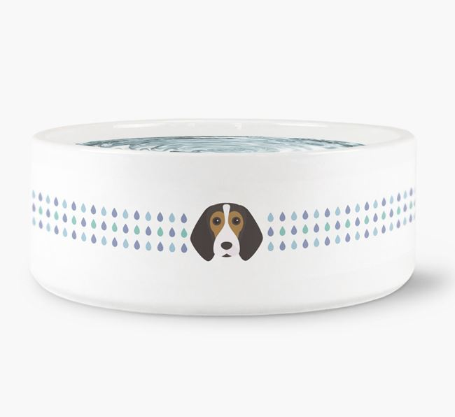 Droplets Water Bowl with Beagle Icon