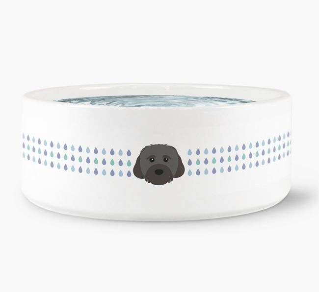 Droplets Water Bowl with Cavachon Icon